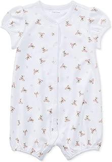 Ralph Lauren Polo Baby Girls Bear Print Shortall Romper