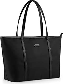 CHICECO Large Tote Bag for School Travel Work - Black, Lightweight Version