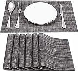 Tovagliette da tavolo in PVC antiscivolo, 4 pezzi, antisporco, resistenti al calore, per ristorante, tavolo da pranzo in cucina o sala da pranzo, lavabili, 45 x 30 cm