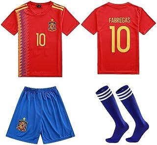 LQsy, Ropa Deportiva De Fútbol, Adecuada para Niños, Conjunto De Partidos, Equipo De España 10# Jersey