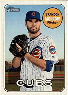 2018 Topps Heritage High Number Variations #724 Brandon Morrow Color Short Print MLB Baseball Trading Card