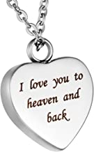 i love you to heaven and back necklace