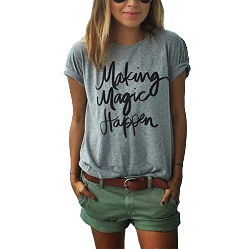 cf09ef12cd83b ZAWAPEMIA Womens Letter Printed Pullover Casual Tees T-Shirt