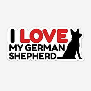 I Love My German Shepherd Sticker - German Shepherd Decal for Car - 2.5