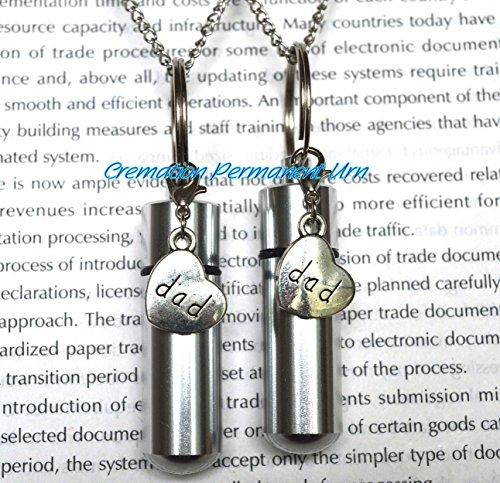 Halskette für Väter, Aschebehälter, Gedenkkette für Väter, silberner Anhänger für die Einäscherung von Vätern, Cremais-Schmuck, Asche, Schmuck, Gedenkschmuck