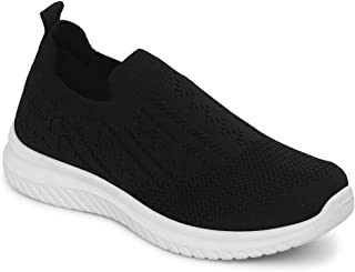 TRUFFLE COLLECTION Women's K22-7010 Black Knitted Sneakers