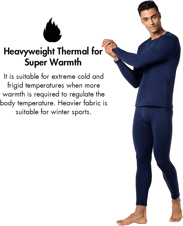 M26 LAPASA Men/'s Heavyweight Thermal Underwear Set Heavyweight Thermal Underwear Long Sleeve Tops Warm Thermal Bottoms Long Johns Pants M24 M25