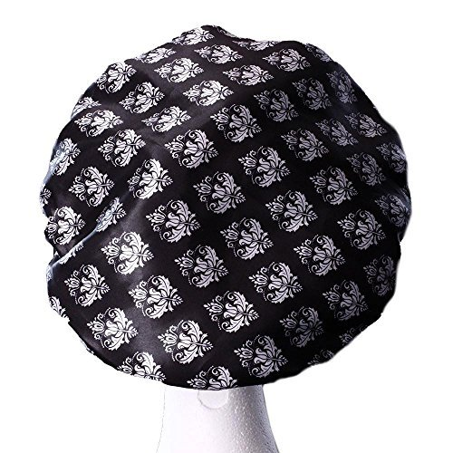 Dilly's Collections Luxury Shower Caps For Women - Triple Layer Bath Cap - Reusable - Perfect For...