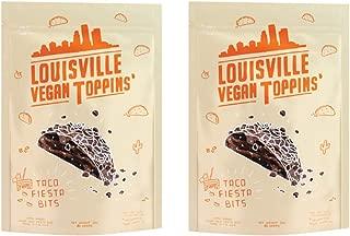 Louisville Vegan Jerky - Toppins' Taco Fiesta Bits, Vegetarian & Vegan Friendly Jerky, 5 Grams of Protein (3 oz)   2-Pack