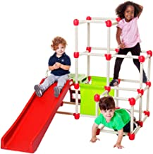 Lil' Monkey Everest Jungle Gym, Toddler Climber Playground - Folds Within Less than One Minute - Indoor and Outdoor Play Equipment For Kids