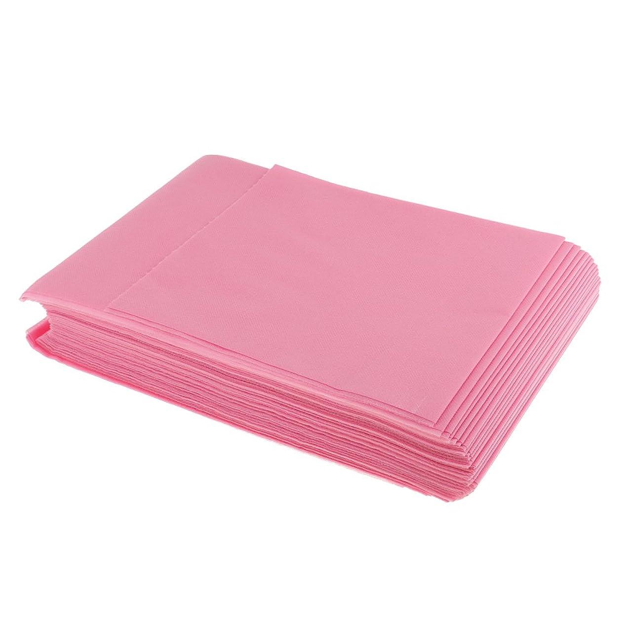 従順な素晴らしい不振SONONIA 使い捨て 美容室/マッサージ/サロン/ホテル ベッドパッド 無織PP 衛生シート 10枚 全3色選べ - ピンク