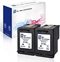 BJ Remanufactured Ink Cartridge Replacement for HP 61XL 61 XL (2 Black) for HP Envy 4500 5530 5535 HP OfficeJet 2620 4630 4635 HP DeskJet 1000 1010 2050 2540 3000 3050 3516
