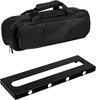 GOKKO Guitar Pedal Board Case 15.7 x 4.9 Inch Pedalboard with Carrying Bag (Small)