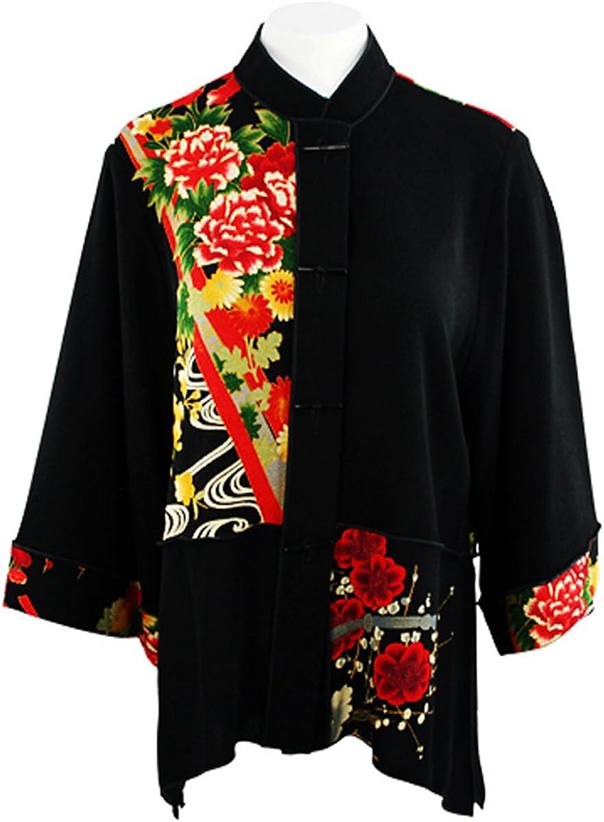 Moonlight Geometric Floral Print Alternative dealer Sharkbite Hem Themed Luxury goods Top Asian