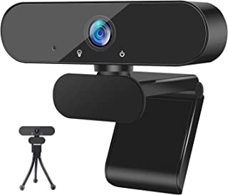 1080P Webcam with Microphone and Tripod Stand, ZEALINNO HD Laptop Plug and Play USB Webcam Streaming Computer Web Camera w...