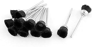Black Nylon Bristle Polishing Brushes Jewelry Cleaning Buffing Tools 12pcs