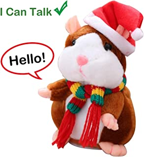 B.Hamster Talking Hamster, Repeats What You Say Plush Animal Toy Electronic Hamster Mouse for Boys, Girls & Baby Gift (Hamster Brown)