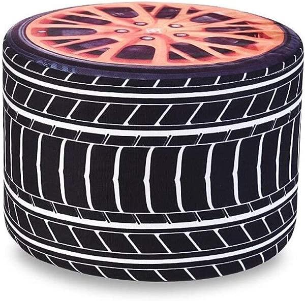Carl Artbay Wooden Footstool Black Tire Style Household Creative Children Stool Linen Stool Sets Home