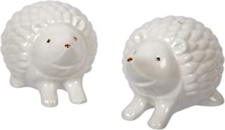 CTG, Novelty Porcelain Hedgehog Salt & Pepper Shakers, Set of 2, Small, White