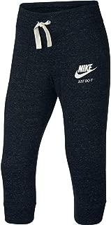 Big Girls Sportswear Gym Vintage Knit Capri Sweatpants (Medium)