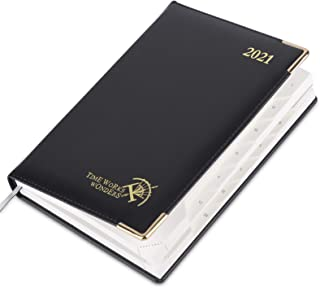 $27 » Sponsored Ad - 2021 Daily Planner One Page per Day Hourly Appointment Book - Vegan Leather Hardcover, Monthly Calendar & T...