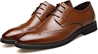 [シェリーラヴ] ビジネスシューズ 革靴 メンズ 本革 手入れ レースアップ 紳士靴 通勤 メンズシューズ 通気性 軽量 フォーマル カジュアル ブラック [並行輸入品]