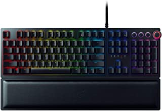 Razer Huntsman Elite - Mechanical Gaming Keyboard with Opto-Mechanical Key (Multifunction Numeric Button, Keybar, Integrat...