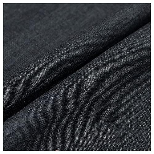 Stretch Stoff Denim, Dunkelblau Und Schwarz Tief Gewaschener Heller Baumwollstoff 100% Baumwolle Dicke Hosen Jacken Hemden Röcke Kleidung Sommerlicher Dünner Sommerstoff(Size:1.5M*4M,Color:Schwarz)