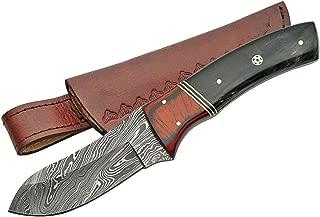SZCO Supplies Damascus Mosaic Big Game Skinner Knife