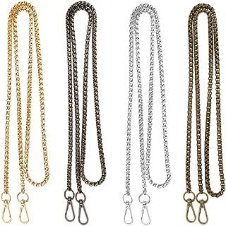 Baoblaze 4 Pieces 120cm Metal Chain Shoulder Bags Crossbody Strap For DIY Bag Purse Making