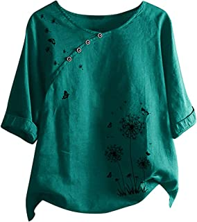 Women Summer Short Sleeve Tops, Ladies Plus Size O-neck Flower T-shirt Blouse Blouse Tunic Top