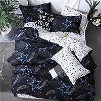 ホームアクセサリー寝具セットグリーンシート枕カバー&羽毛布団カバーセット新しい牧歌的な寝具セットモダンなベッドリネン2018秋の寝具3または4個/セット子供セットピンクフラワーキング