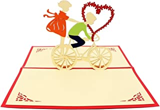 IShareCards Handmade 3D Pop Up Greeting Cards for Valentines,Lovers,Couple's/Valentines Day Gifts Cards (Valentine Riding)