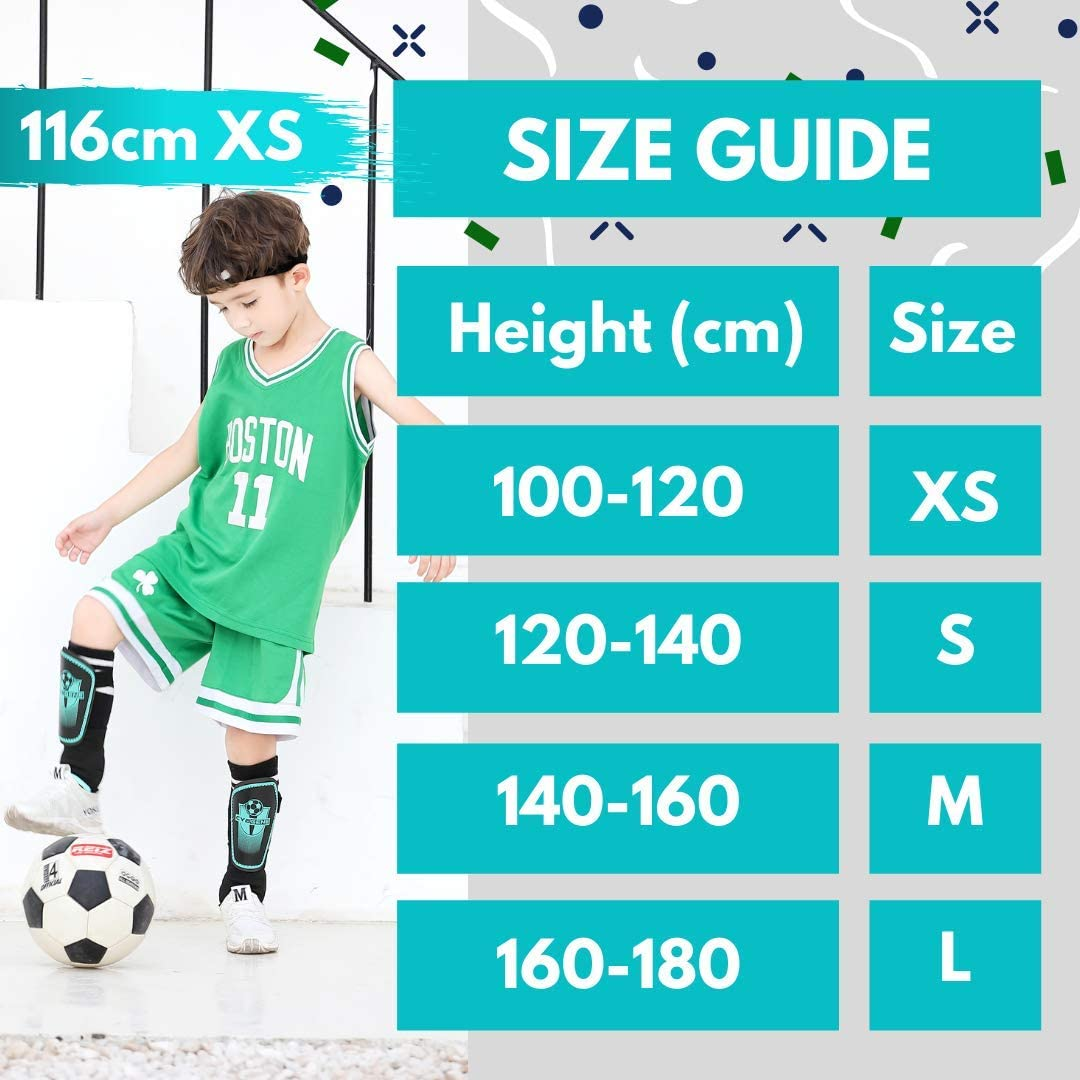 CybGene Shin Pads for Kids Junior Boys Girls Football Shin Guards for Youth Children Protective Equipment with Adjustable Straps /& Breathing Holes Football Gifts