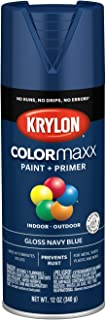 Krylon K05529007 COLORmaxx Spray Paint, Aerosol, Navy Blue