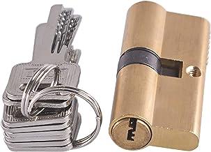Euro cilinderslot Puur koper AB Slot kern 75 mm cilinder AB Sleutel anti-diefstal ingang messing deurslot enkele rij marme...