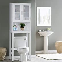 BestComfort Wooden Over The Toilet Cabinet Storage, Bathroom Organizer Over Toilet Storage, Above The Toilet Space Saver Cabinet