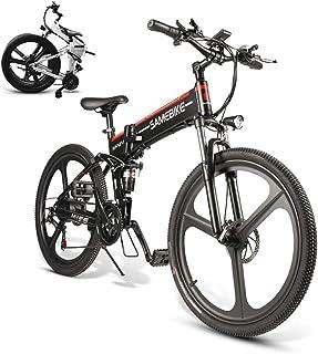 Coolautoparts Bicicleta Eléctrica PLEGABLE 350W/500W 26 Pulgadas 32km/h para Hombres Mujeres de Aluminio Bicicleta de Mont...