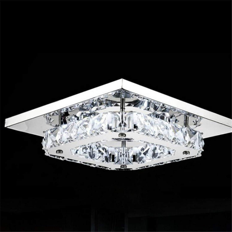 T-Tonranp Les plafonniers Hommesés Modernes de Plafond de Lampe affleurent la Surface en Cristal de lumière montée par Surface légère en Cristal de pièce de lit de Couloir 1 head0 12W