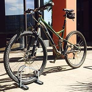 EasyGoProducts EGP-BIK-004 4 Bike Rack – Vertical Floor Bicycle Parking Stand for Storage - Heavy Duty Compact Steel Design