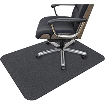 Amazon Com Office Chair Mat Opaque Hard Floor Mat For Home 0 16 Thick Multi Purpose Low Pile Desk Chair Mat For Hardwood Floor 35x55 In Dark Gray Kitchen Dining