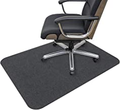 "Office Chair Mat, Opaque Hard Floor Mat for Home, 0.16"" Thick Multi-Purpose Low Pile Desk Carpet Chair Mat for Hardwood Fl..."