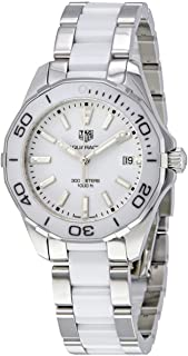 Aquaracer White Dial Steel and Ceramic Ladies Watch WAY131B.BA0914