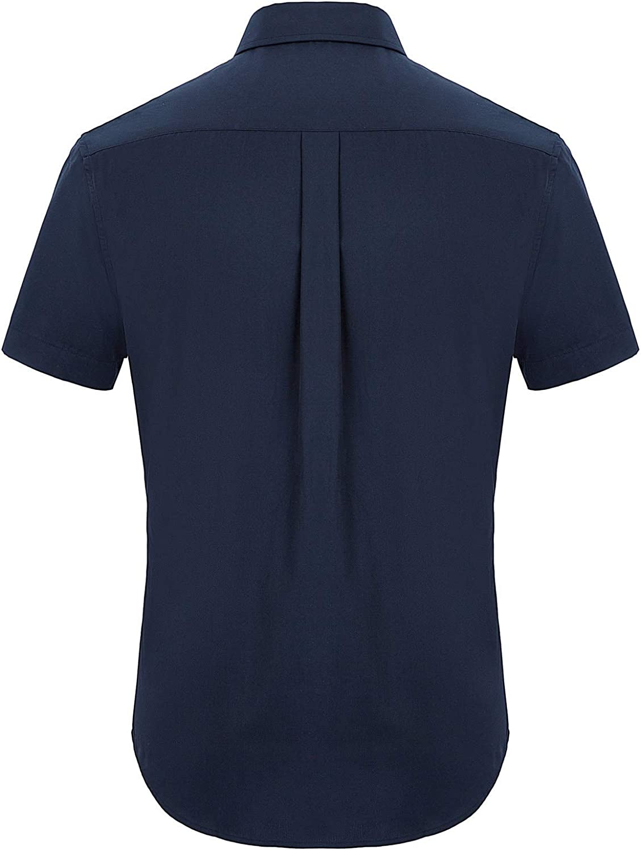 PJ PAUL JONES Men's Casual Dress Shirts Button Down Short Sleeve Business Shirt