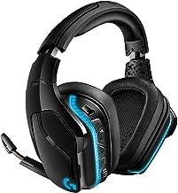 Logitech G935 Wireless DTS:X 7.1 Surround Sound LIGHTSYNC RGB PC Gaming Headset - Black, blue (Renewed)