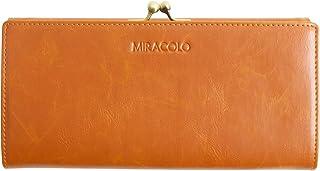 MIRACOLO 長財布 がま口 レディース 財布 PUレザー がまぐち小銭入れ カード入れ 大容量 大人 ロングウォレット 二つ折り 人気 おしゃれ 全3色