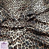 Stoff mit Leopardenmuster, braune Punkte, gesponnenes