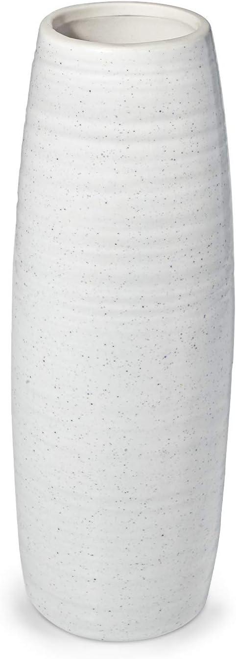 Modern Cheap mail order sales White Flower Vase Dr.Cerart Textured NEW 8.5 Inch Cera