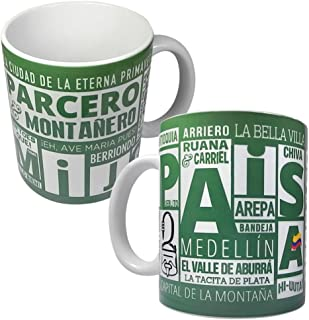 Gio Gifts Medellin Mug Colombia PAISA Mug Tea Cup Collectible Ceramic Souvenir Gift