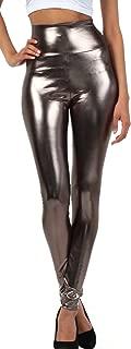 Sakkas Shiny Liquid Metallic High Waist Stretch Leggings - Made in USA
